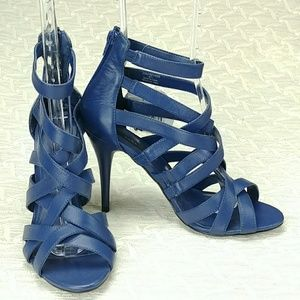 Zara Blue Stilettos